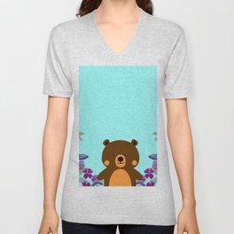 Cute Baby Bear Unisex V-Neck