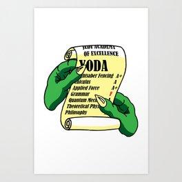 Yoda's Report Card Art Print