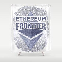 Ethereum Frontier Grunge original Shower Curtain