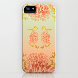blooming peach iPhone Case