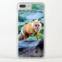 Foxy Lady  - Red Fox Clear iPhone Case