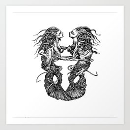 The Love Aquatic Art Print