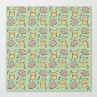 hamster Canvas Prints featuring Hamster Pattern by Noreen Torelli