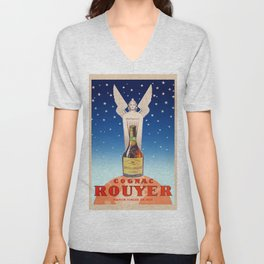 Vintage Cognac Rouyer Alcoholic Aperitif Advertising Poster Unisex V-Neck