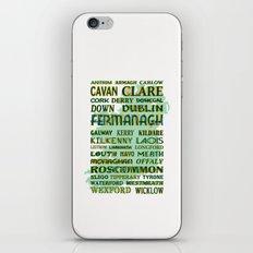 32 Counties Of Ireland iPhone & iPod Skin