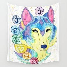 Chakra Wolf Wall Tapestry