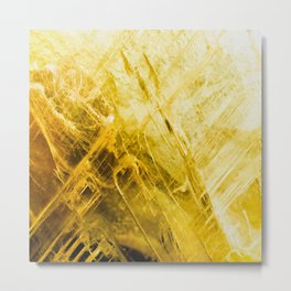 Gold Quartz Metal Print