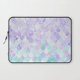 Mermaid Iridescent Purple and Teal Pattern Laptop Sleeve