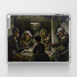 1885-Vincent van Gogh-The potato eaters Laptop & iPad Skin