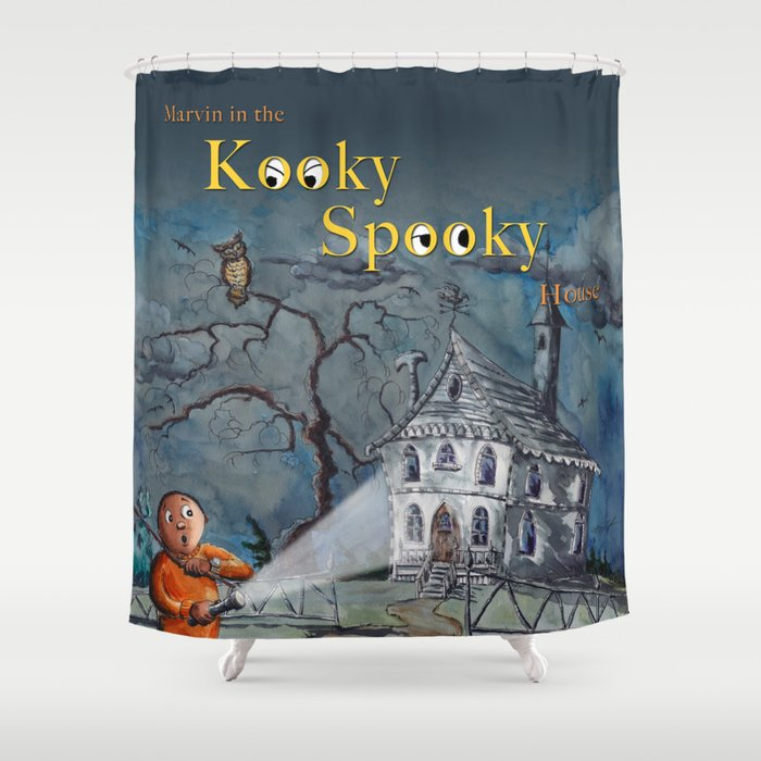 Marvin in the Kooky Spooky House Shower Curtain