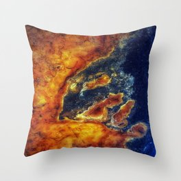Earth Art Cave Ceiling Throw Pillow
