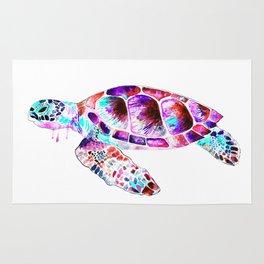 Turtle, watercolour Rug
