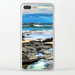 Beachscape, Hungry Head (1) Clear iPhone Case