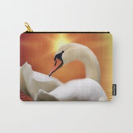 Mystical Swan in Golden Light Carry-All Pouch