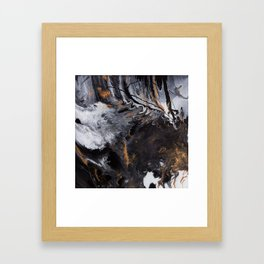 Something Completely Unlike Marble Framed Art Print