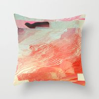 waves Throw Pillows featuring Waves by Okti