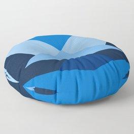 Geometric Blue Floor Pillow