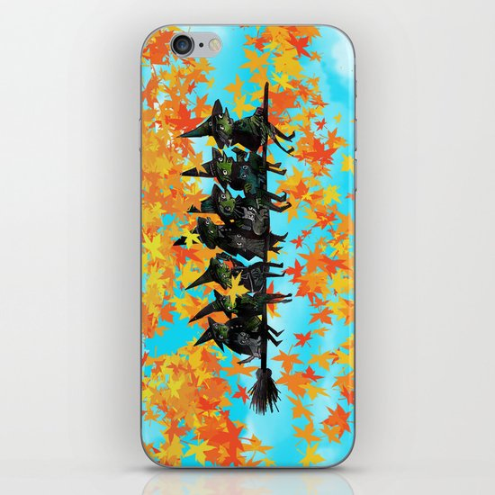Seven Witches on a Broom.  iPhone & iPod Skin