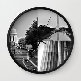 DC Collage Wall Clock