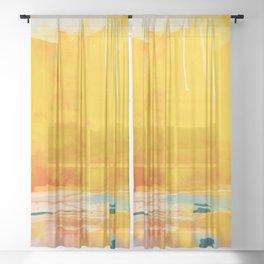 sunny landscape Sheer Curtain