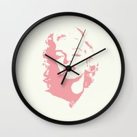 marylin monroe Wall Clocks featuring Marylin by Cloz000
