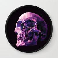 skull Wall Clocks featuring Skull by Roland Banrevi