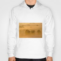 rowing Hoodies featuring Gold in the Hedgerows by John Dunbar