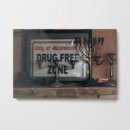 Drug Free Zone Metal Print