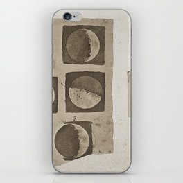 Five Diagrams of the Surface of the Moon; aquatint after Galileo iPhone Skin