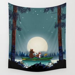 Bear and Fox Wall Tapestry