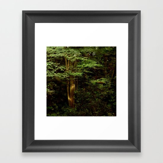 Tree and Green Framed Art Print