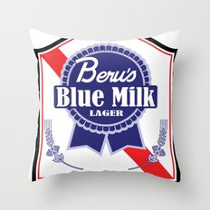 Beru's Blue Milk Lager Throw Pillow