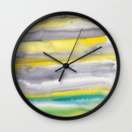 18   | Abstract Minimal Watercolor Painting | 191223 Wall Clock