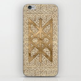 Web of Wyrd The Matrix of Fate - Vintage Gold iPhone Skin