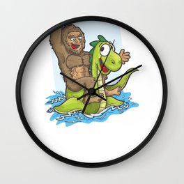 Bigfoot Nessie Hide and Seek World Champs Wall Clock