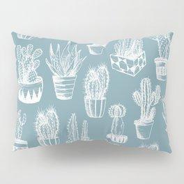 Cactus Pattern Teal Pillow Sham