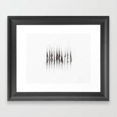 Dislocated_white Framed Art Print