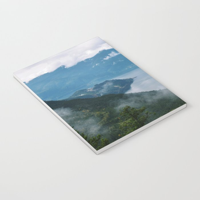 Fog over the water in Squamish BC Notebook