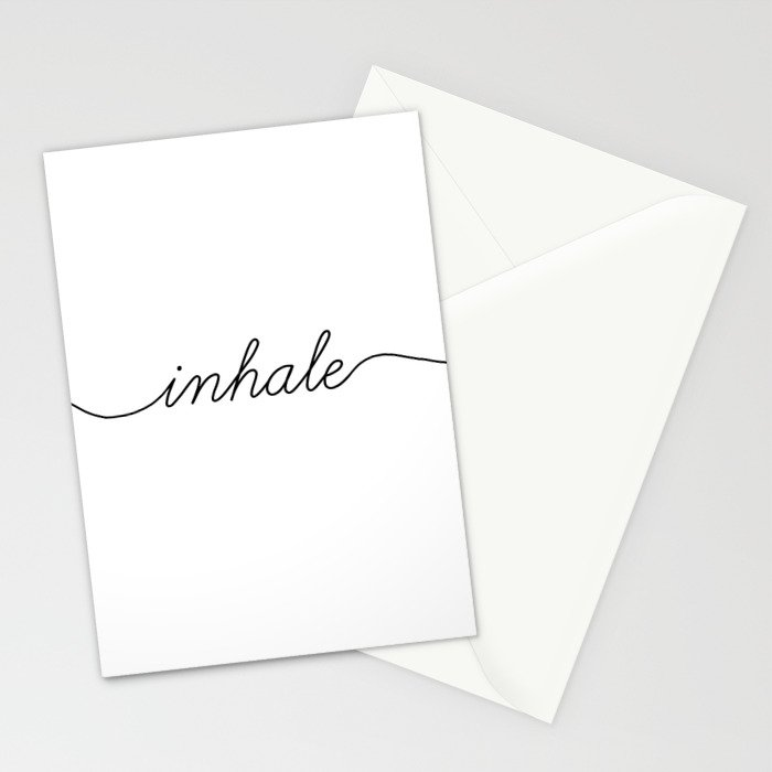 inhale exhale (1 of 2) Stationery Cards