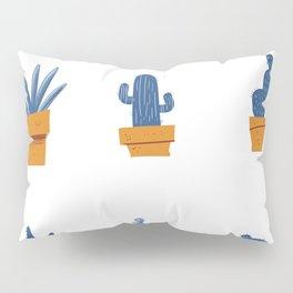 Blue Cactus. Pillow Sham