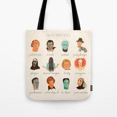 Twelve Horror Heros  Tote Bag