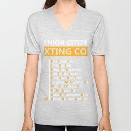 Senior Citizen Texting Code BFF Lol BTW TTYL Byot LMDO WAITT OMSG GGPBL ROFLACGU T-shirt Design Unisex V-Neck
