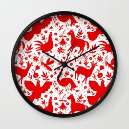 Otomi in red Wall Clock