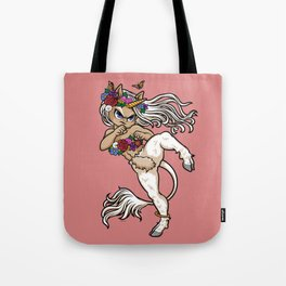 Faun Fighter (unicorn) Tote Bag