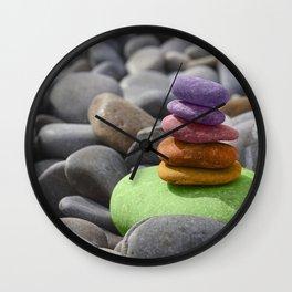 Pebbles Pyramid Wall Clock