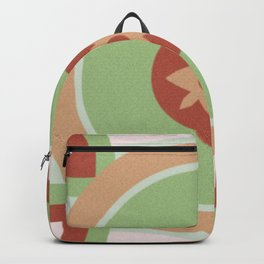Red green Backpack