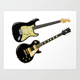 Elecric Guitars Art Print