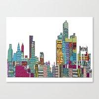 detroit Canvas Prints featuring Detroit by bri.buckley