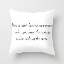 New Oceans Throw Pillow