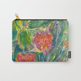 Magical Flowers Carry-All Pouch